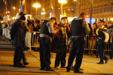Bob Simpson being arrested during Occupy Chicago in 2011.